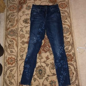 Bleached flower jeans Bridgette lucky brand